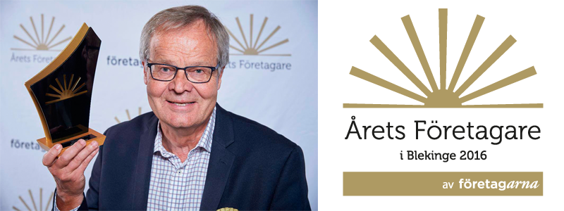 Nisse - Årets företagare i Blekinge 2016   Foto: Stefan Lidblom