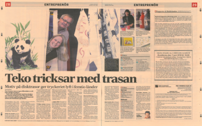 Dagens Industri is writing an article about us!