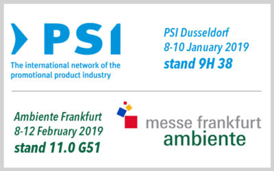 Visit our stand at PSI and Ambiente 2019