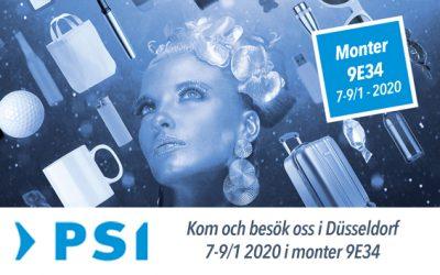 Vi ställer ut på PSI i Düsseldorf  7-9/1 2020