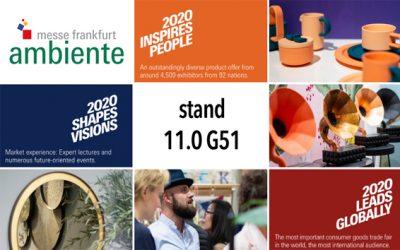Vi ställer ut på Ambiente i Frankfurt 7-11/2 2020