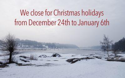 We close for Christmas holidays